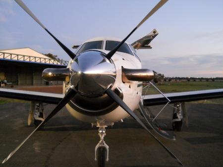 Pilatus PC12 at Aldinga Airport