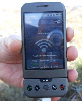 Serval Bat Phone at Arkaroola