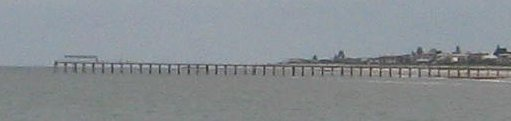 Grange Jetty viewed from Henley Jetty, 2.1km away